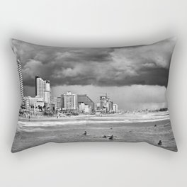 Surfers waiting for the wave, Tel-Aviv, israel Rectangular Pillow