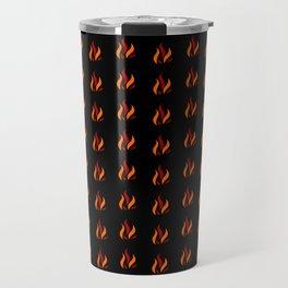Flame Pattern Red Orange Travel Mug