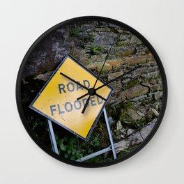 On Account of Rain Wall Clock