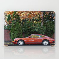 porsche iPad Cases featuring Red Porsche by Lost River Photography