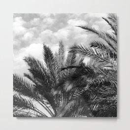 Vintage Palm Trees Floating in Tropical Clouds Metal Print