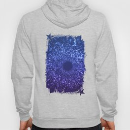 Sci Fi Abstract Outer Space Universe  Mystic Blue Hoody