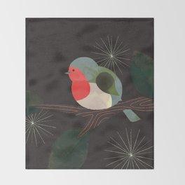 Holiday Robin Throw Blanket