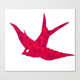 Triangulate Bird Canvas Print
