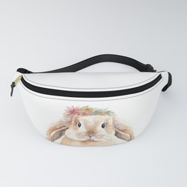 Bunny Meadow Woodland Animal Watercolour Fanny Pack