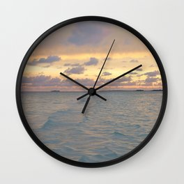 Micronesia sunset Wall Clock