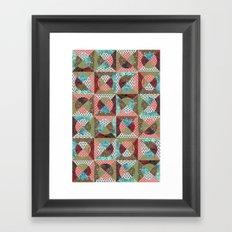 collage mix paper Framed Art Print