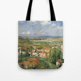 """Camille Pissarro """"L'Hermitage En Été, Pontoise"""" Tote Bag"""