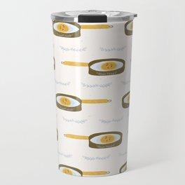 Cute vector pancake day frying pan illustration. Travel Mug