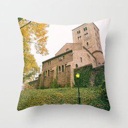 Autumn - The Cloisters - New York City Throw Pillow