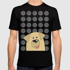 Labrador Yellow Dog MEDIUM Black Mens Fitted Tee