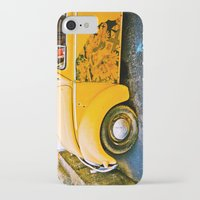 volkswagon iPhone & iPod Cases featuring vintage vw and door art by robertbuttery