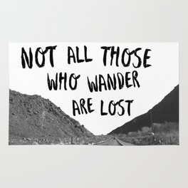 Not All Those Who Wander Are Lost-Palm Springs, California Rug