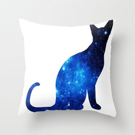 Blue univerCAT Throw Pillow
