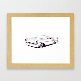 1957 Custom Belair Framed Art Print