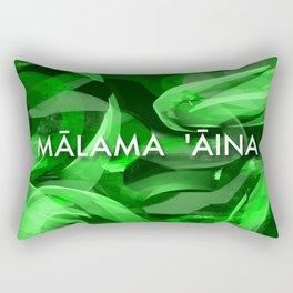 MALAMA AINA - TYPOGRAPHY Rectangular Pillow