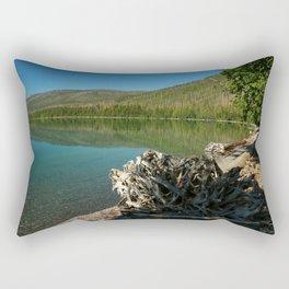 Driftwood On Lakeshore Rectangular Pillow