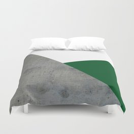 Concrete Festive Green White Duvet Cover