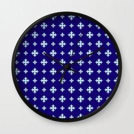 Occitan cross or crotz occitana 4 Wall Clock