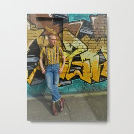 Skinhead Oliver 2017 Metal Print