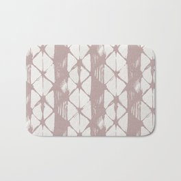 Simply Braided Chevron Clay Pink on Lunar Gray Bath Mat
