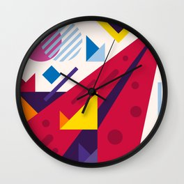 Abstract modern geometric background. Composition 18 Wall Clock
