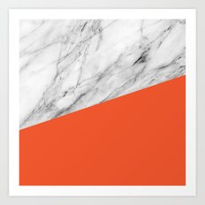 Marble and flame color Art Print
