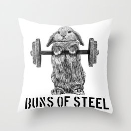 Buns of Steel Throw Pillow