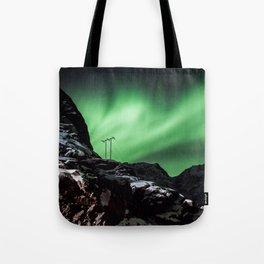Aurora in Lofoten, Norway (II) Tote Bag