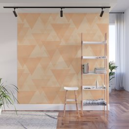 Gentle light sand triangles in the intersection and overlay. Wall Mural