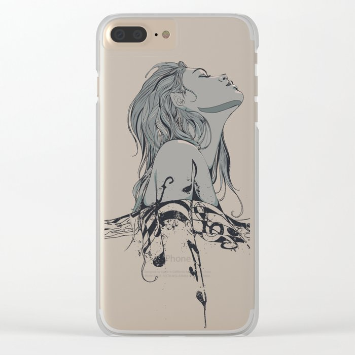Floating in The Rhythm Clear iPhone Case