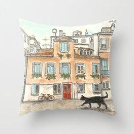 Venetian stroll Throw Pillow