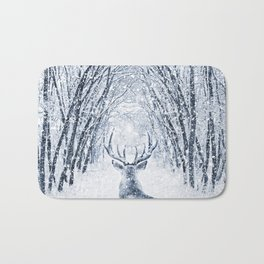 Winter deer Bath Mat