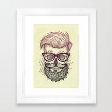 Hipster is Dead Framed Art Print