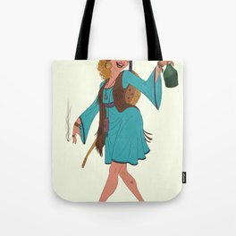 Hippie Girl Tote Bag