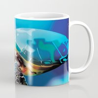 sea turtle Mugs featuring Sea Turtle by Natasha Alexandra Englehardt