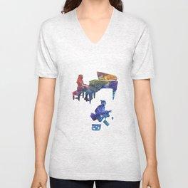 Harmony Through Color Unisex V-Neck