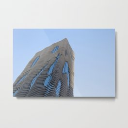Aqua Tower Metal Print