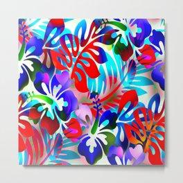 Tropical Jungle Flora Metal Print
