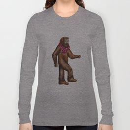 Hipstersquatch Long Sleeve T-shirt