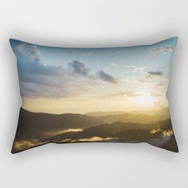 Sunset on the top mountain Rectangular Pillow