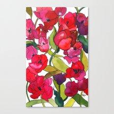 Scarlet Tulips Canvas Print