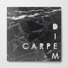 Marble Collection: Carpe Diem Metal Print
