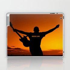Sunset Guitar Man Silhouette Laptop & iPad Skin