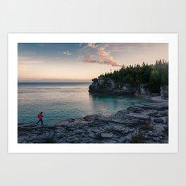 Sunrise at Bruce Peninsula National Park Art Print