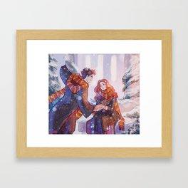 Snowy Jily Framed Art Print