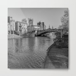 Riverside walk along the Wensum, Norwich Metal Print