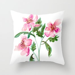 Single Stem of Three Throw Pillow