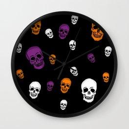 Skulls Galore Wall Clock