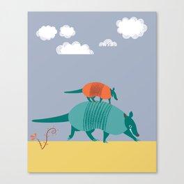 Armadillos Canvas Print